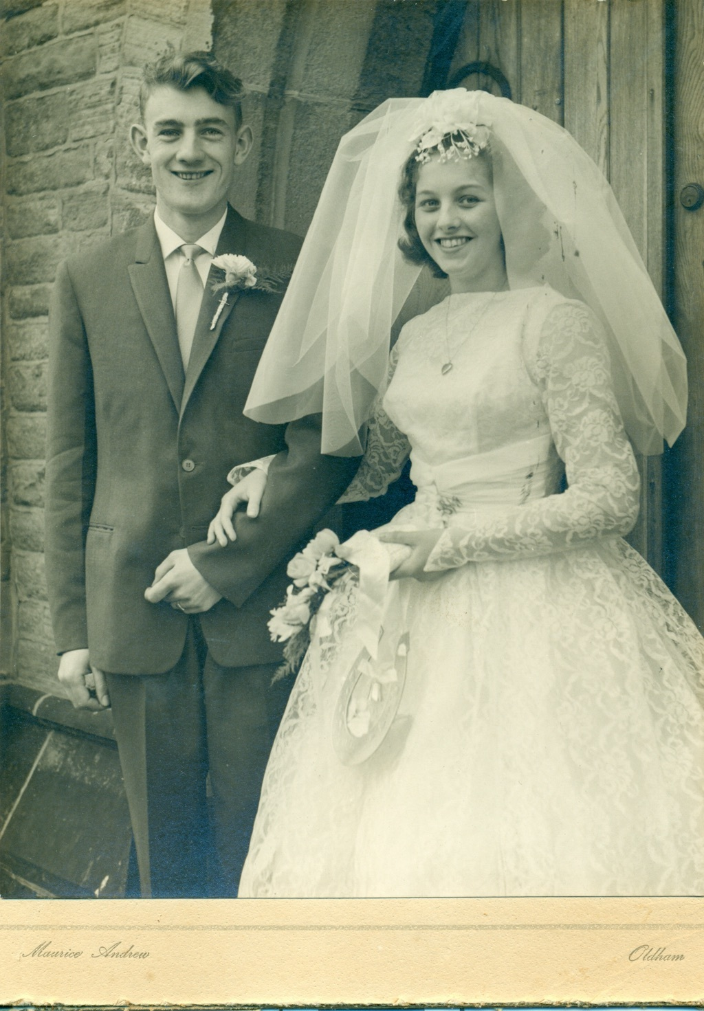 Chris potter wedding picture april 1961