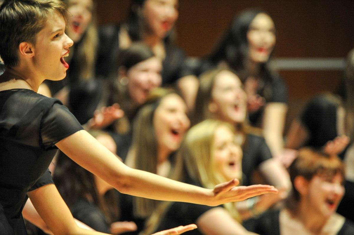 Chorus Young Women Close Up