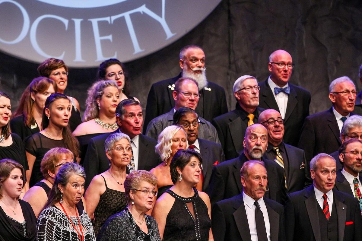 Mixed Chorus Everyone In Harmony Close Up