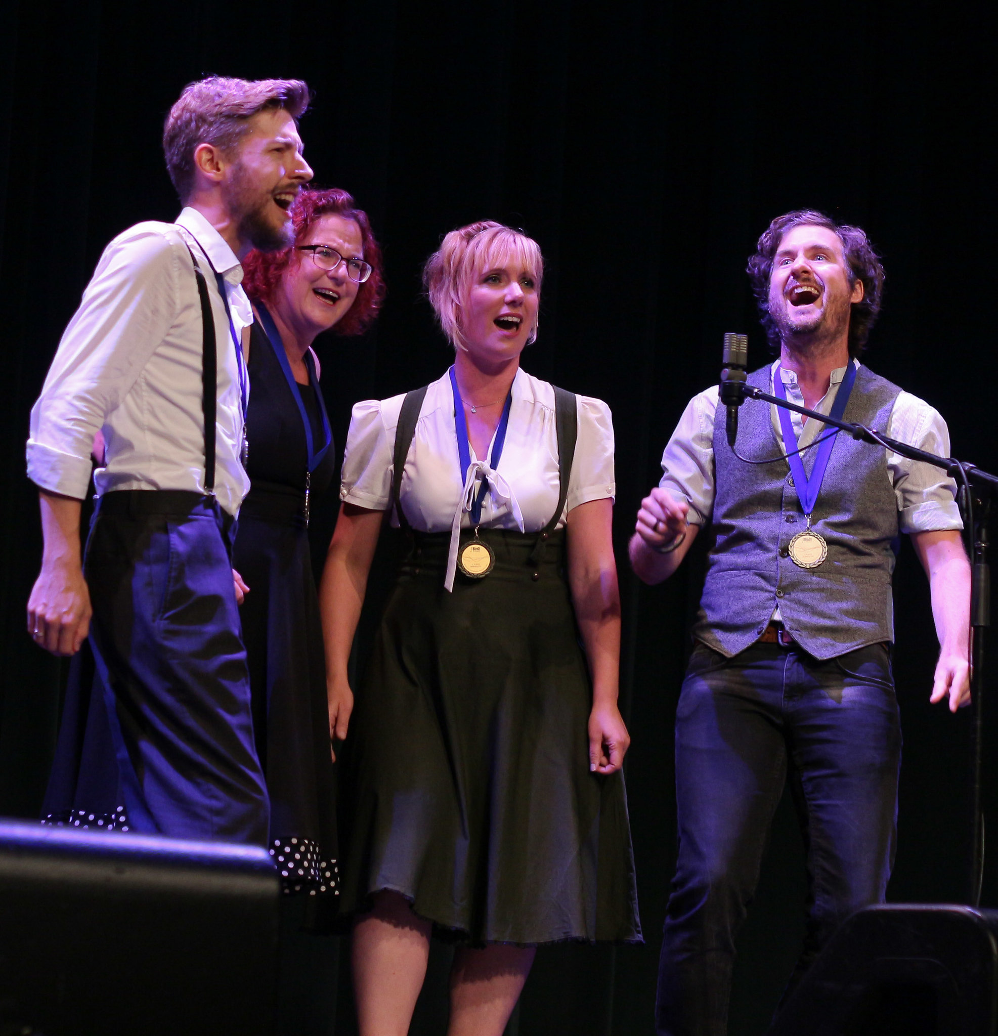 A Mixed Quartet Performs At Harmony University