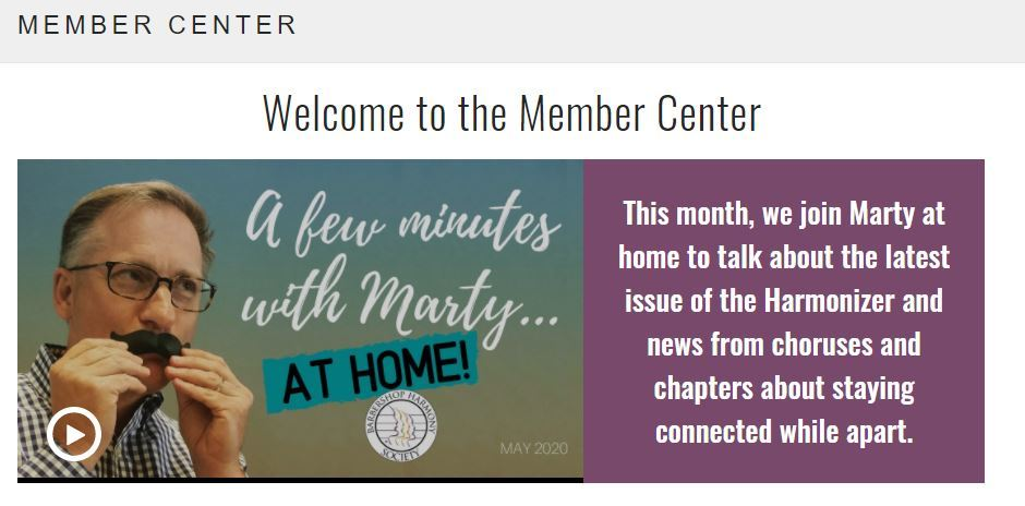 Member center homepage screenshot