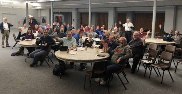 Spring 2019: A group attends the in-person Everyone in Harmony Roadshow in Elgin, IL
